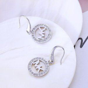 Michael Kors Round Inlaid Zircon Earrings